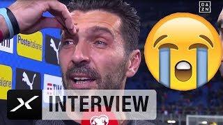 Grazie Gigi! Buffon verkündet unter Tränen seinen Rücktritt | Italien - Schweden | Interview | DAZN