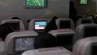Emirates A380 Economy Class Cabin Dubai to Toronto