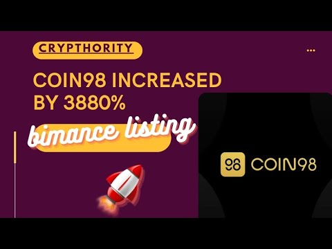 COIN98 jumped as high as 3880%🤯😱 on Binance listing! MASSIVE GAINS🔥💸