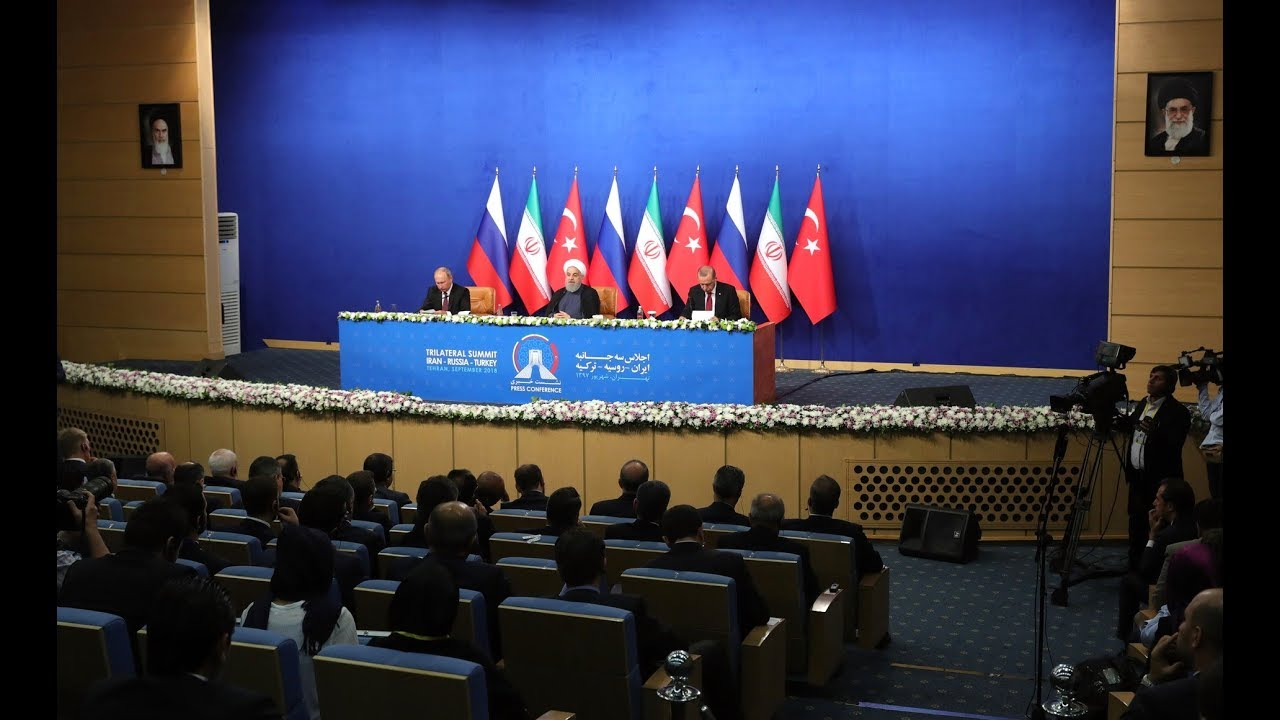News conference following meeting with Hassan Rouhani and Recep Tayyip Erdogan