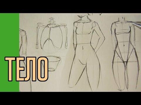 видео: Как нарисовать тело. Полный вариант!