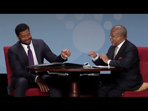 Russell Wilson with Dr. Henry Louis Gates, Jr. at The Richmond Forum