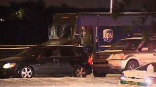 Stolen UPS truck chase ends with shootout, 4 dead