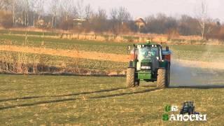 Wiosna 2014 - Mocny początek - John Deere 6330P - Rauch Axis 30.1W - JD 740i & JD 5720 *Podkarpacie*