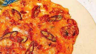 해물김치전, seafoodkimchijeon, seafoodkimchipancake