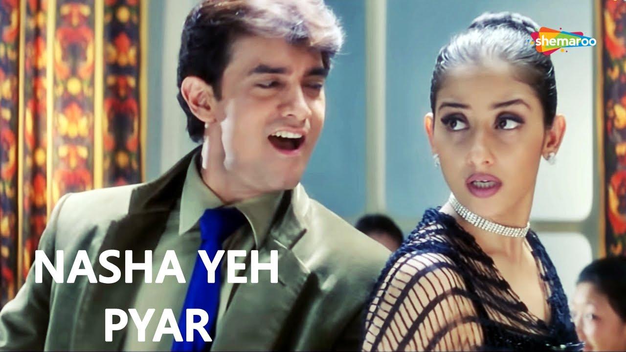 Nasha Yeh Pyar Ka Nasha | Aamir Khan | Manisha | Udit Narayan | Mann - HD Lyrical | Hit Love Song