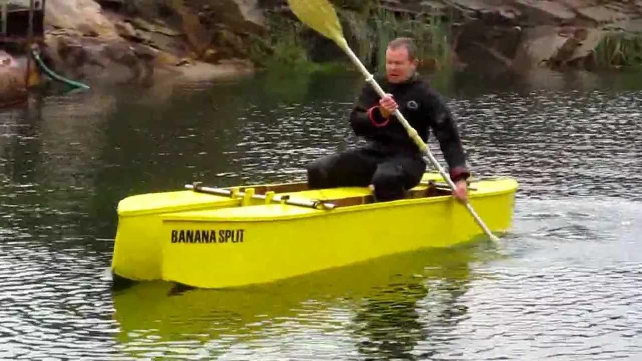 Testing of Dive Kayak Banana Split - YouTube