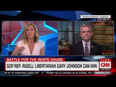 Rigell Discusses Decision to Endorse Gary Johnson for President on CNN Poppy Harlow