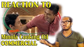 "⧬⧬ Reaction to A 👬 Gay Oriented Commercial  of  ""Minola Cooking Oil ""  + My Honest Opinion."