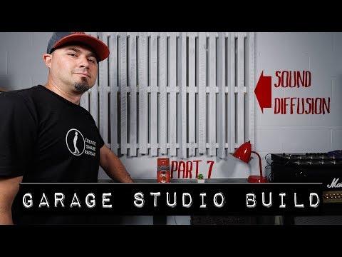 DIY Sound Diffuser | Garage Studio Build Part #7 (Final Video)