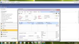 Dynamics GP Purchase Order Entry