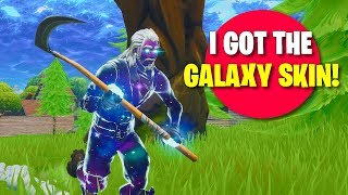 I GOT THE GALAXY SKIN IN FORTNITE!!