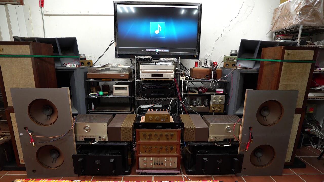 不了情 蔡琴 測試4顆雙12寸兩對全音域喇叭無音箱無分音器只有一音路的聲音 - YouTube