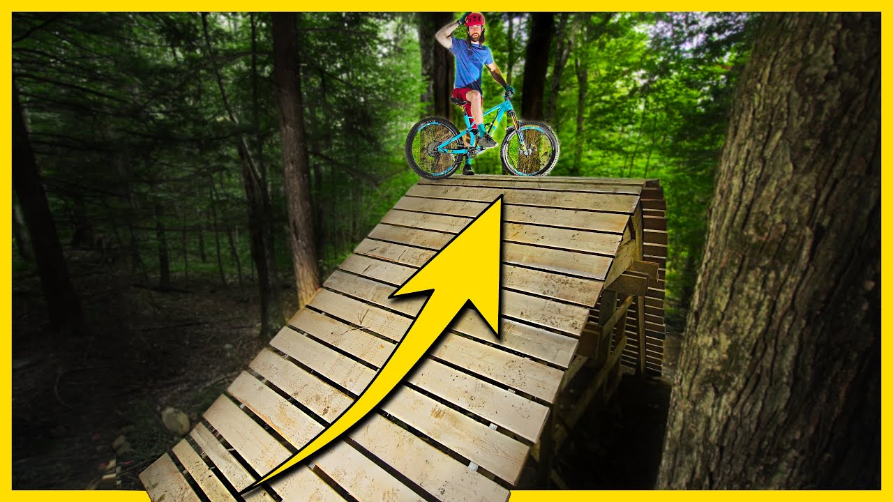 Building a GIANT Flyover On Our Backyard Trails