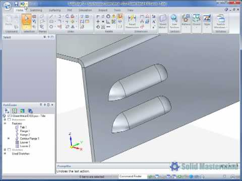Solid Edge Sheet Metal Tutorial How To Create A Louver