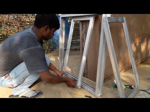 Making aluminium slaiding windows with mosqito net