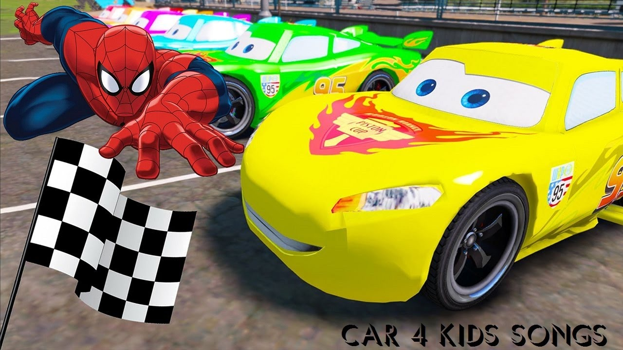 spiderman disney cars lightning mcqueen colors small tractors