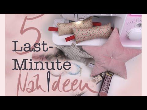 5 Last-Minute Nähideen Geschenke //#Nähanleitung für Anfänger //#Scrunchies... DIY //#Handmadebyanni