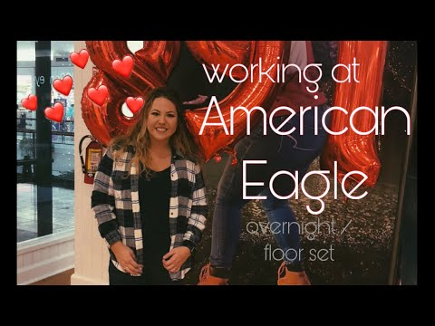 WORKING OVERNIGHT AT THE MALL? | American Eagle Vlog