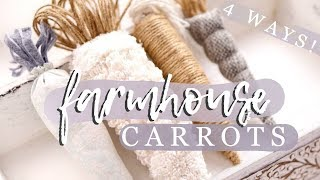 DIY *FARMHOUSE* EASTER CARROT DECORATIONS | 4 DIFFERENT WAYS