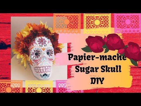 ▴  Papier-mache Sugar Skull   ▴ DIY on budget  ▴ Dollar Store Project 2019▴