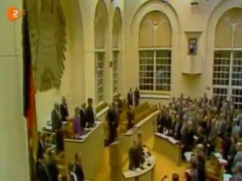 Bundestag singt die deutsche Nationalhymne - 9-11-1989