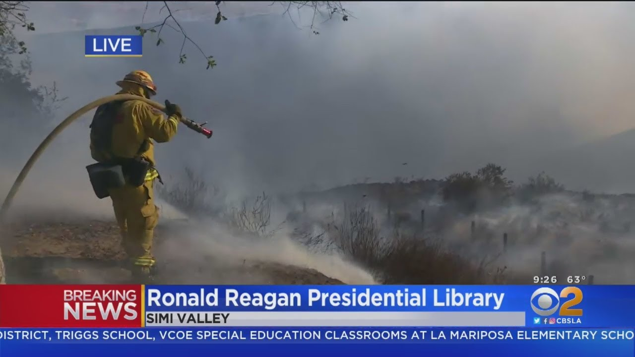 ronald reagan library fire