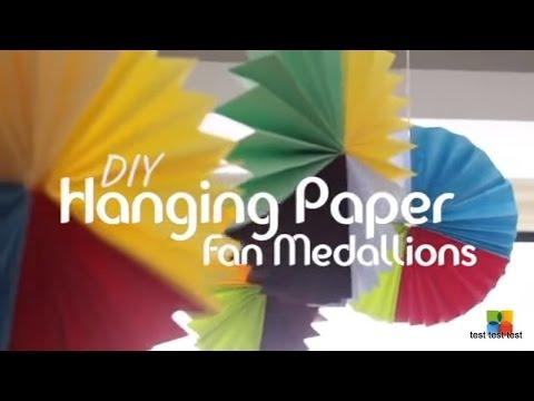 DIY: Paper Fan Medallions