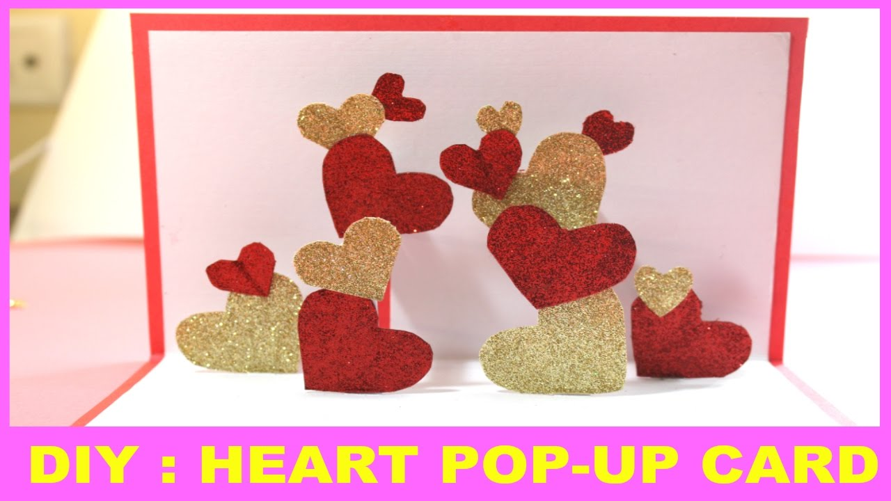 Heart POPUP card – Greeting Cards of Valentine Day