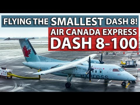 Flying Air Canada's SMALLEST Dash 8! Calgary To Edmonton On The Dash 8-100