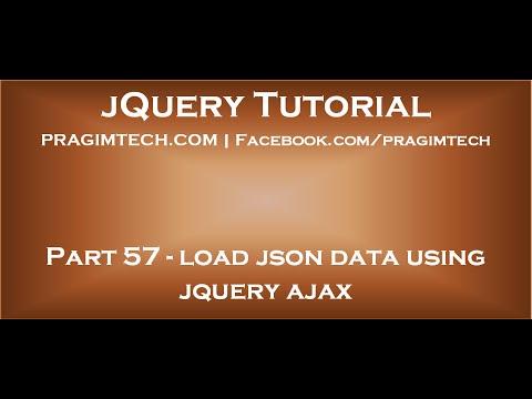 load json data using jquery ajax