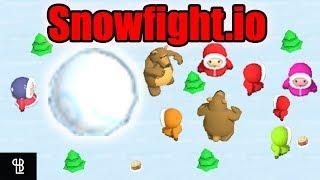 SNOWFIGHT.IO Gameplay Español | No Golpees al oso! Rank 1!!