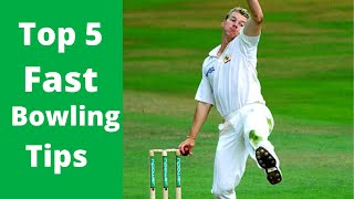 How To Bowl Fast - Top 5 Fast Bowling Tips