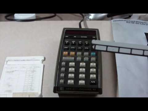 Hewlett Packard HP-65 calculator working.