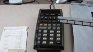 Hewlett Packard HP-65 calculator working.