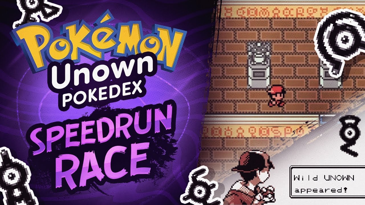 Complete Unown Pokedex Speedrun Race vs Shenanagans | Pokemon Crystal
