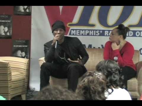 NIKKI FRENCH of V101  Interview with Tyrese Gibson on the back stage.avi