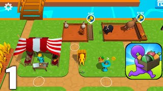 Buildy Island 3d : Hire & Craft Casual Adventure - Gameplay Walkthrough Part 1 Level (Android & iOS) screenshot 2