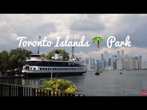 4K TORONTO ISLANDS PARK   HARBOUR FRONT   FERRY TOUR