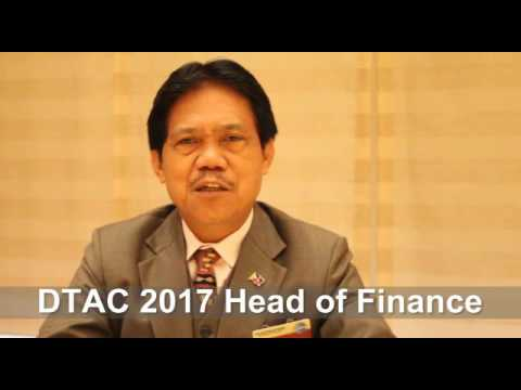 Message from DTAC 2017 Head of Finance - DTM Elpido Quitevis