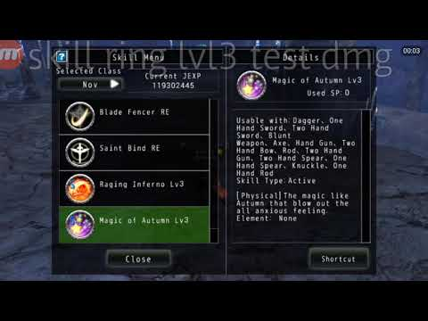 Avabel Online Event Halloween Skill Ring Lvl3 MAGIC OF AUTUMN