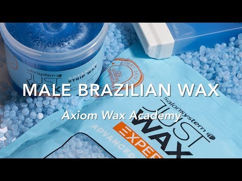 Male Brazilian wax demo with Andy Rouillard -  treatment