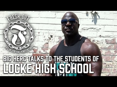 Ex Con talks to the students of Locke High