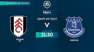 Полный Матч FULHAM FC EVERTON 13 тур Англия