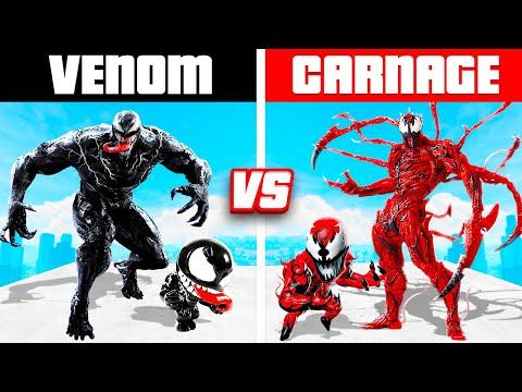 VENOM FAMILY vs. CARNAGE FAMILY (GTA 5 RP!)