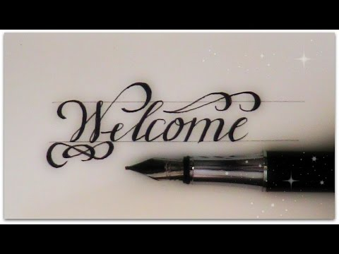 How To Write In Cursive Welcome For Beginners
