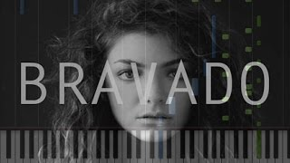 Lorde - Bravado Easy Piano Cover [Synthesia Piano Tutorial]