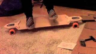 My first longboard/ carpet test ( Kracked skulls scimitar )