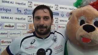 25-10-2015: #A2MVolley - Umberto Gerosa dopo la vittoria di Cantù ad Alessano