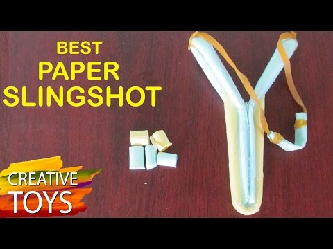 How to Make a Paper Slingshot Easy and Strong  Paper Weapons